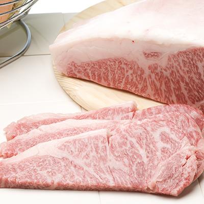 肉のみやべが厳選したあか牛サーロインステーキ